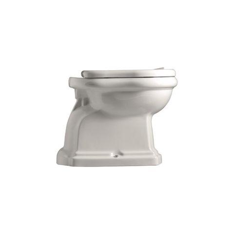"""WC vaso da bagno con scarico al suolo """"S"""" della linea Retrò di Kerasan"""