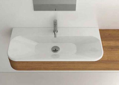 Lavabo lavandino da bagno cm 85X42 di Domus Falerii
