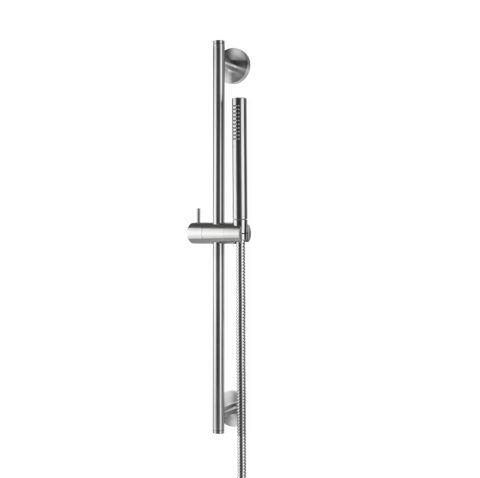 Asta saliscendi in inox completa di doccia e flessibile LL. 150 cm senza presa acqua in acciaio inox timber steel Di Vema