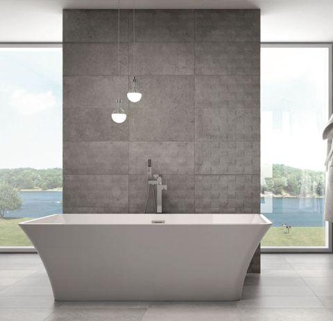 Vasca Freestanding in puro acrilico colore bianco lucido completa di piletta