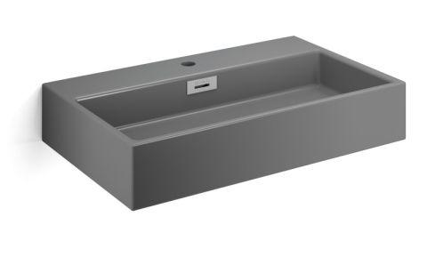 Lavabo da appoggio o a muro con foro rubinetto, senza piletta Quarelo L700