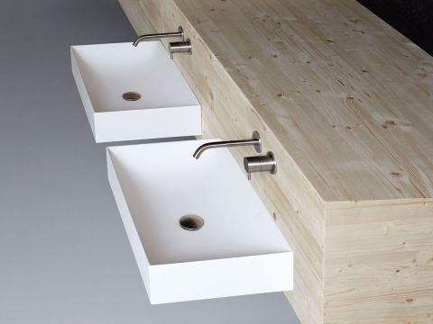 Lavabo lavandino da bagno modello Stratos di Antoniolupi