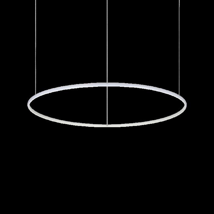 Lampada a sospensione circolare hulahoop a led della collezione Hous