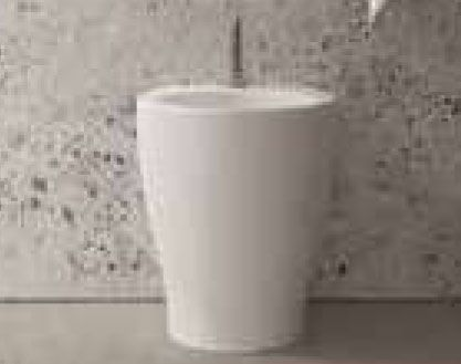 Bidet filoparete per bagno monoforo da cm 35x48 della linea Mascalzone di Domus Falerii