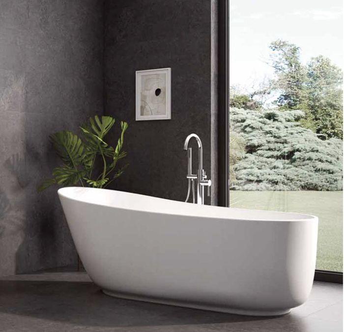 Vasche freestanding ovale complete di piletta