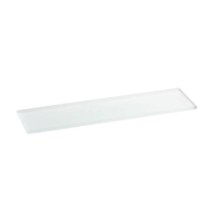 Mensola in vetro bagno con supporti cromati della collezione Baketo di Lineabeta