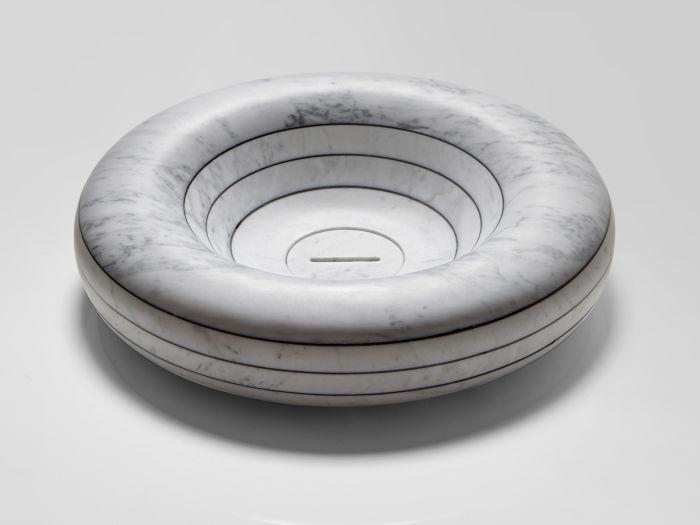 Lavabo rotondo in marmo Rigati