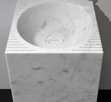 Lavabo lavandino da bagno modello Controverso di Antoniolupi