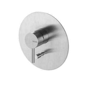 Miscelatore monocomando da incasso con deviatore automatico vasca/doccia, completo di corpo incasso in acciaio inox timber steel tema