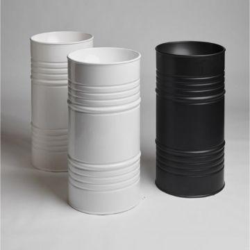 Lavabo freestanding Barrel scarico suolo completo di sifone e tubo flessibile di scarico Kerasan