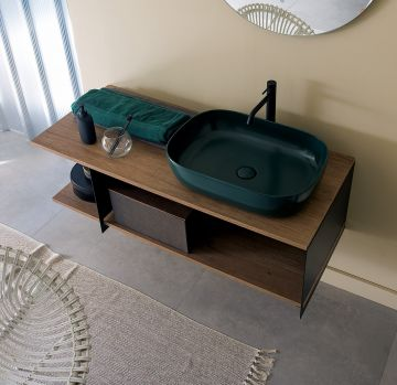 Mobile da bagno componibile della collezione Slide di Scarabeo