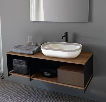 Mobile da bagno componibile L120 della collezione Slide di scarabeo