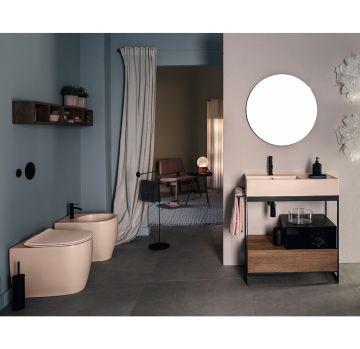 Mobile da bagno con ripiano e cassetto della collezione Soild di Scarabeo