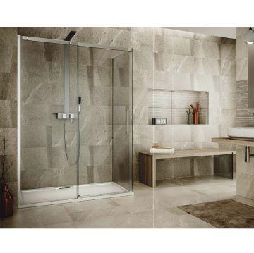 Porta scorrevole doccia con laterale angolare della collezione valley di Hous