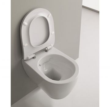 Vaso wc sospeso Clean Flush della collezione Moon di Scarabeo